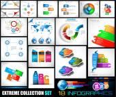 Kolekce 18 Infographics pro sociální média a mraky