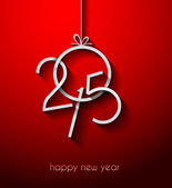 Original 2015 happy new year modern background with flat style text and soft shadows