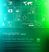 Infographic Layout for business data presentation