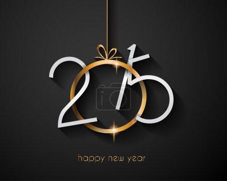 Foto de Feliz Navidad y feliz año nuevo fondo con fondo y elementos de diseño con temática de vacaciones - Imagen libre de derechos