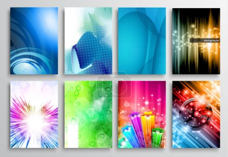 Illustration for Set of Abstract modern backgrunds for business cards, brochure design, flyer design, cover layouts , magazine page backgrounds and so on. - Royalty Free Image