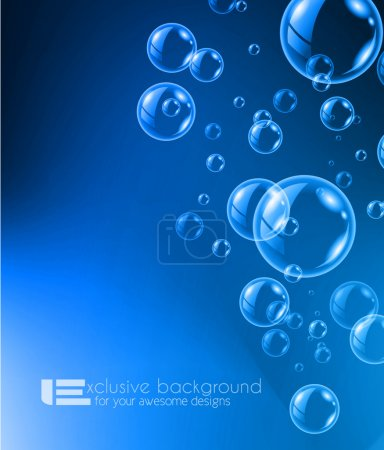 Bubble liquid background