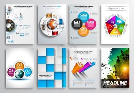 Set of Flyer Design, Infographics