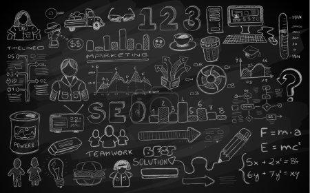 Social Media doodles Sketch set