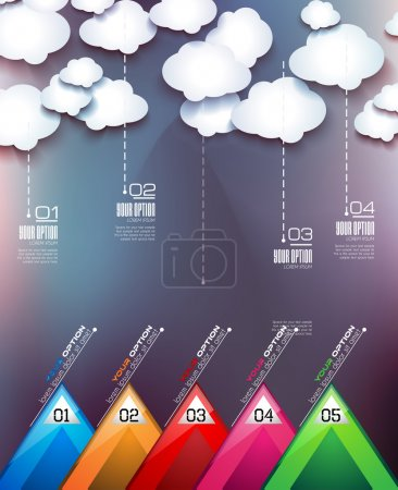 Cloud Computing concept with infographics