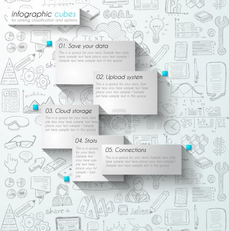Infographic teamwork and brainstorming