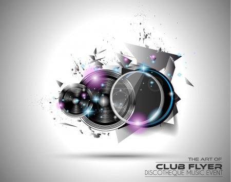 Disco Flyer Art for Music Event