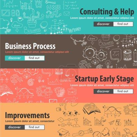 Flat design concepts for startups