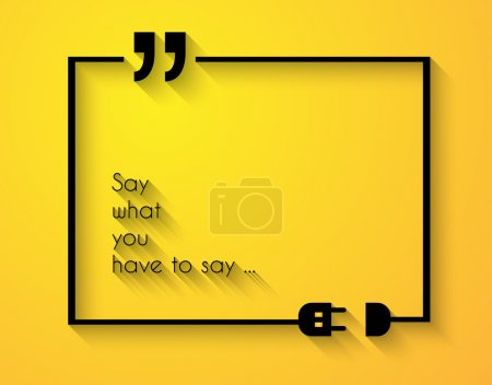 Quotation Mark Frame and space for text