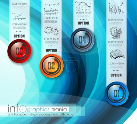 Infographic Abstract template with multiple choices