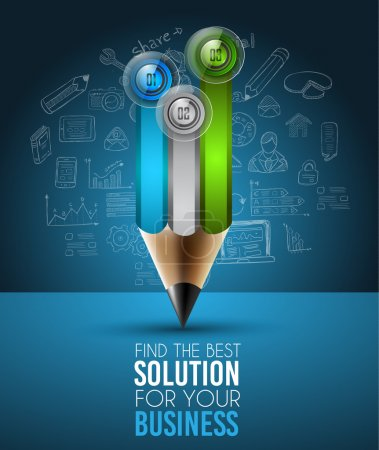 Best Business Solution Infographic Layout Template