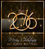 2016 Vánoce a šťastný nový rok Party flyer