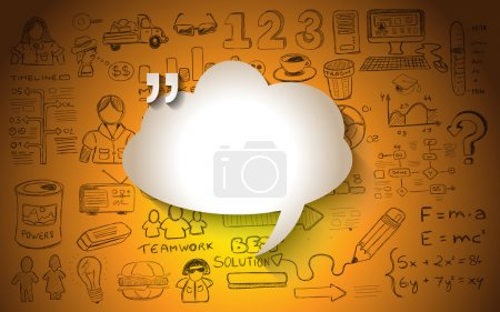 Cloud Computing with infographics sketch set