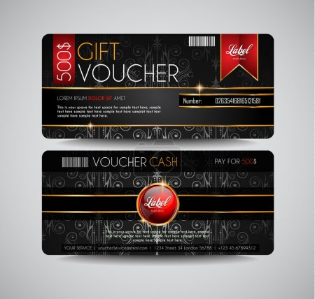 Voucher Gift Card layout template