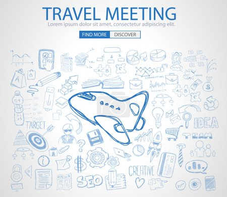 Travel for Business concept with Doodle