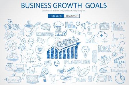 Business Growth Goals concet