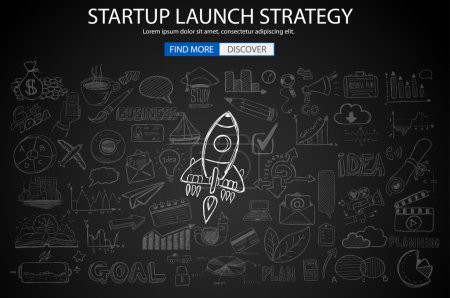 Strartup Launch Strategy Concept
