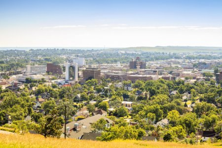 Panorama of Rapid City, South Dakota.