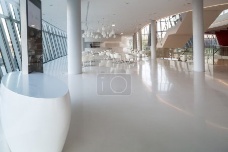 A modern interior in white