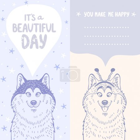 Husky positive card