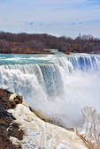 Niagara Falls viewed from the American side in spring