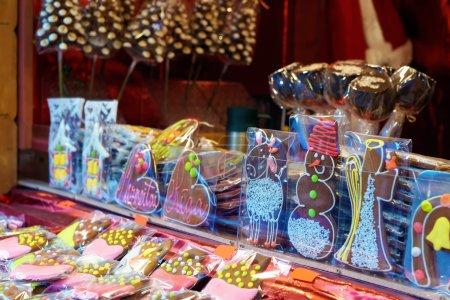 Gingerbread souvenirs at the european Christmas market