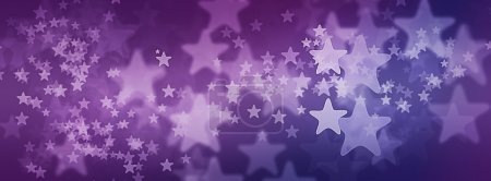 Photo for Stars on Purple Starry Background for illustration for Facebook Cover Photo - Royalty Free Image