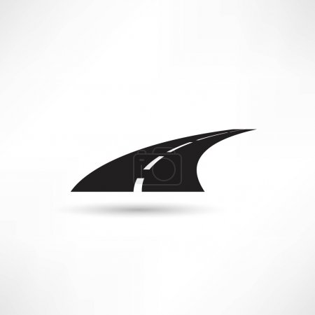 Illustration for Road, highway icon. vector illustration on white background - Royalty Free Image