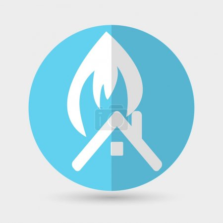 House with fire icon