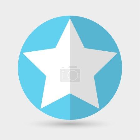 Illustration pour Icône étoile communiste. illustration vectorielle en cercle bleu - image libre de droit