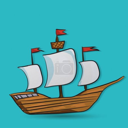 Sailing vessel icon