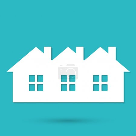 Houses, buildings icon