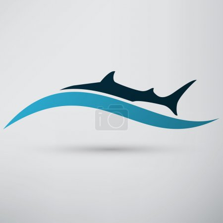 Shark, sea animal icon