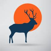 Deer and moon icon