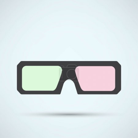 3d glasses icons