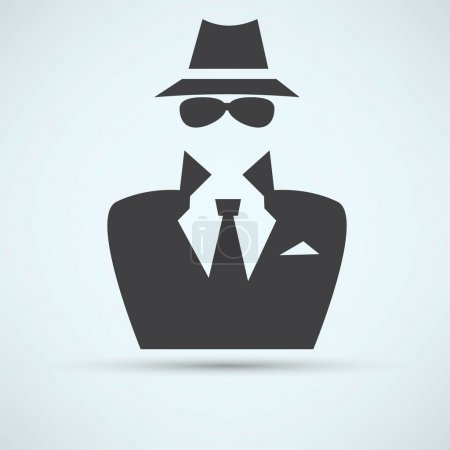 Secret service agent icon