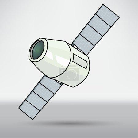 Illustration for Satellite station, astronaut icon. cartoon vector illustration - Royalty Free Image