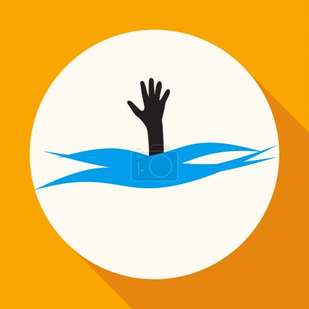 Drowning, help icon