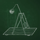 Catapult  doodle illustration