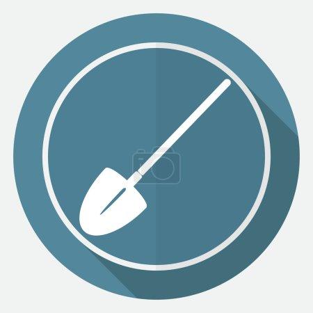 Icon Garden tools on white circle
