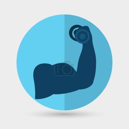 Biceps, exercise, sport icon