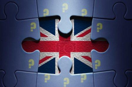 brexit jigsaw puzzle concept