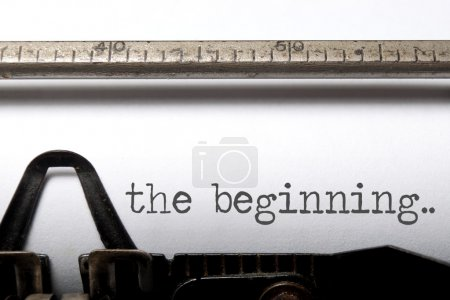 Photo for The beginning printed on an old typewriter - Royalty Free Image