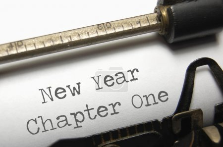 Photo for New year chapter one printed on an old typewriter - Royalty Free Image