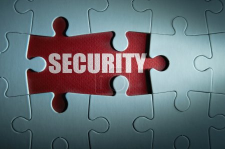 pieces revealing the word security