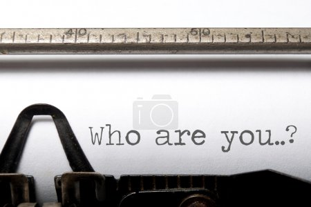 Photo for Who are you printed on an old typewriter close up - Royalty Free Image