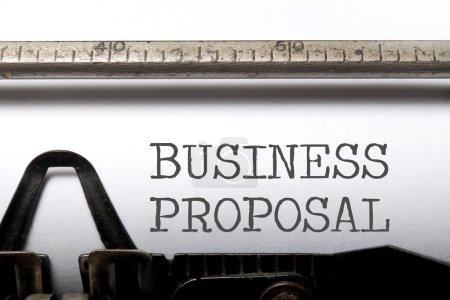 Proposition d'affaires imprimée