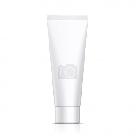 Mock Up Tube Of Cream Or Gel Grayscale White Clean. Ready For Your Design. Product Packing