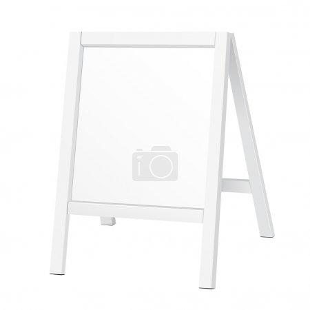 Outdoor Indoor Stander Advertising Stand Banner Shield Display, Advertising. Illustration Isolated On White Background. Vector EPS10