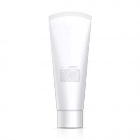 Mock Up Tube Of Cream Or Gel Grayscale White Clean. Products On White Background Isolated. Ready For Your Design. Product Packing. Vector EPS10